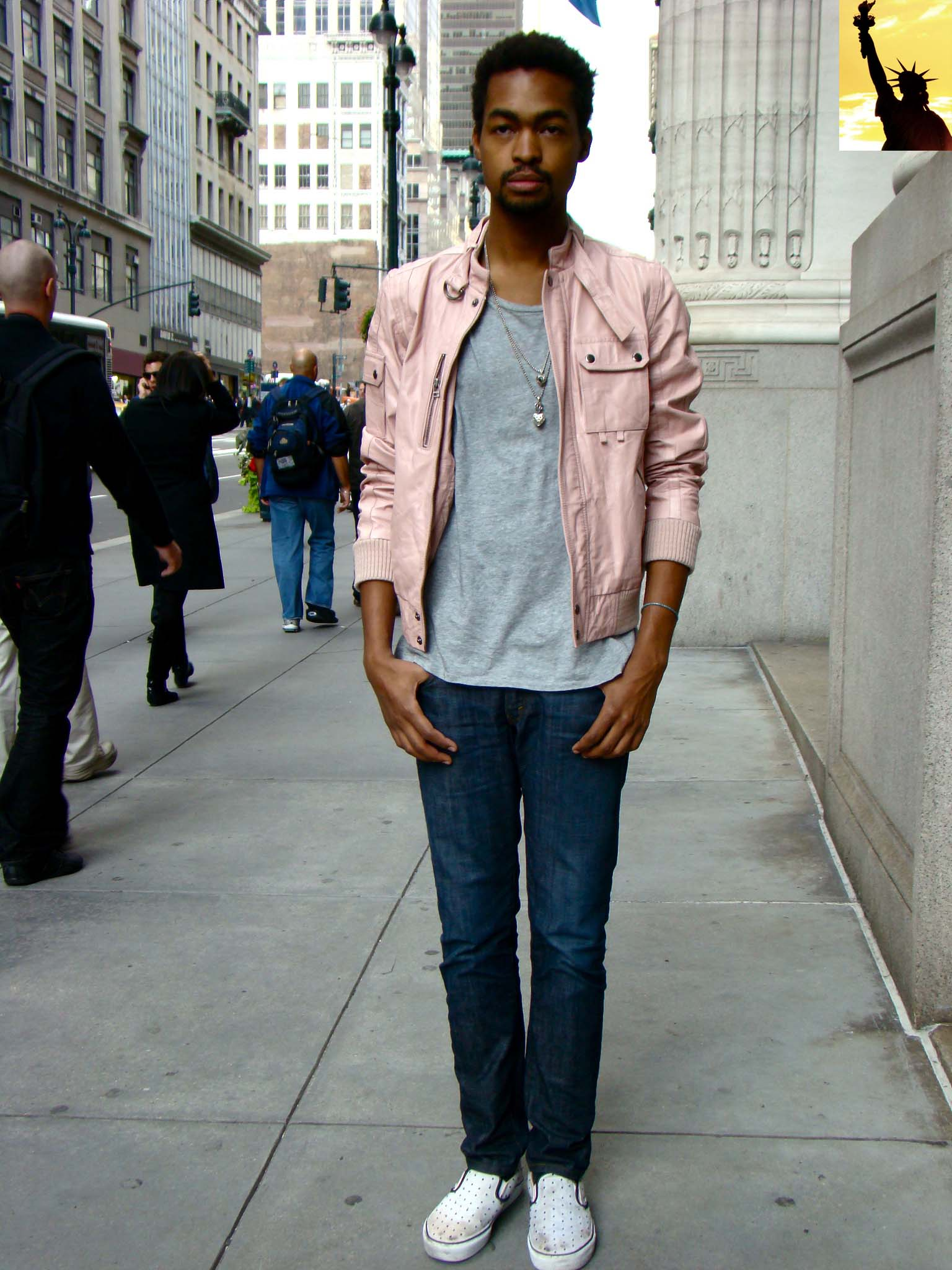 guy-pink-leather-bomber-jacket-jeans-and-grey-shirt.jpg ...